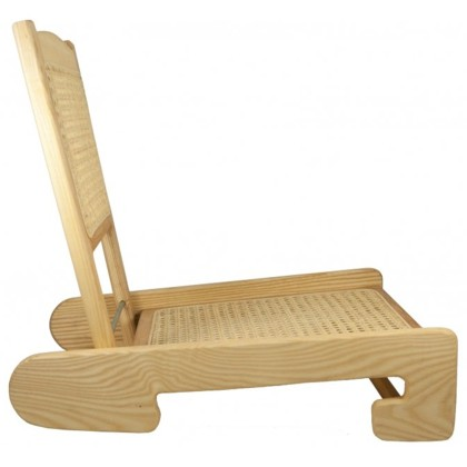 Folding Cane Canoe Chair