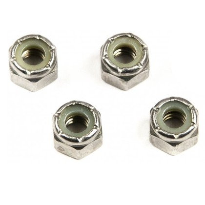 1/4-20 Stainless Steel Locking Nuts, 4 pack