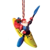 White Water Kayak Santa Ornament