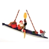 Sea Kayak Santa Ornament