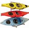 Free Standing 3 Kayak Storage Rack