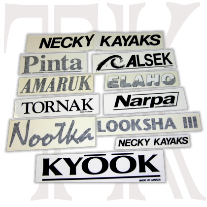 Necky Kayak Model Sticker