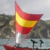 Pacific Action Sail, 1.5 sqm, red-yellow