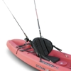 Tall Back Fishing Seat w/ rod holder pack