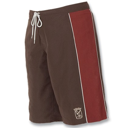 Women's Paddling Trunks, Brown and Burgundy, Large
