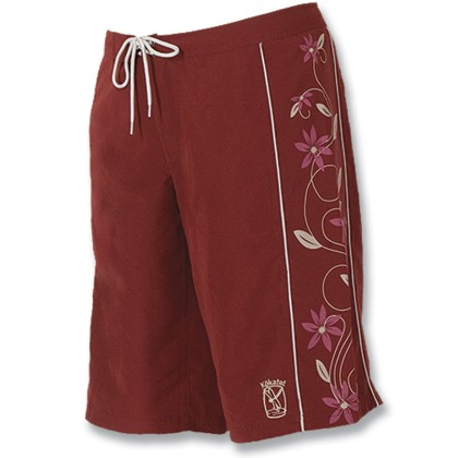 Women's Paddling Trunks, Burgundy Print, Large