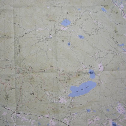 Ossipee Mountains Hiking Map (NH)