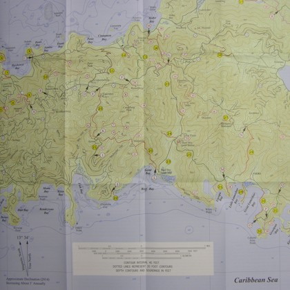 St. John Hiking Map (US Virgin Islands)