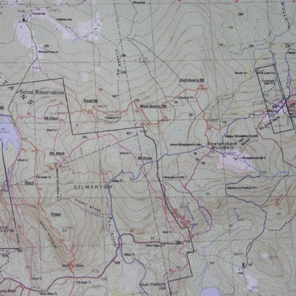 Hiking Trials Map of the Belknap Range (NH)