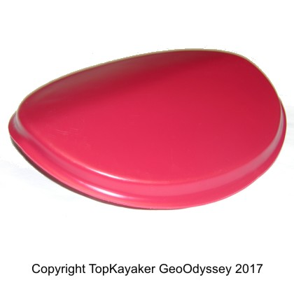 Small Red Plastic Hatch Cover (11 x 9.25 in.)