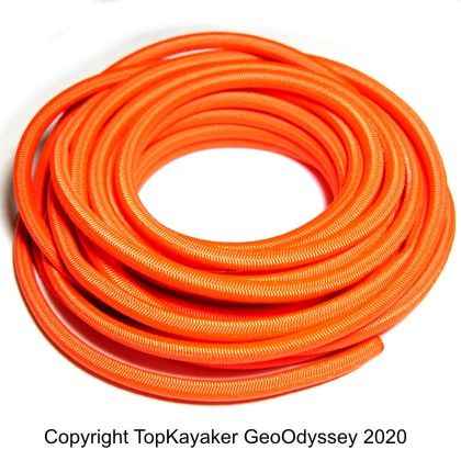 Orange Bungee Cord, 1/4 in., (sold by the foot)