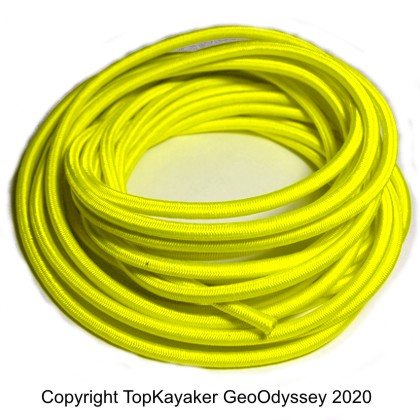 Yellow Bungee Cord, 1/4 in., (sold by the foot)
