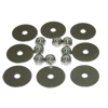10-32 Nylock Nut and Washer, 8 pack