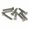 1 in. Stainless Flat Head Screws, 8 pack
