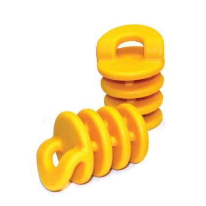 Sm. Scupper Stoppers, 30 pack, yellow - Click Image to Close