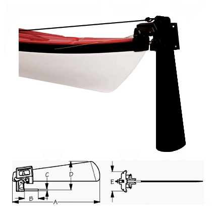TruCourse Rudder Assembly (Long Pin) - Click Image to Close