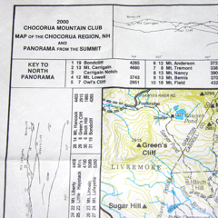 Chocorua Mt. Club Map