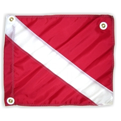 20x24 Diver Down FLAG, red