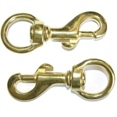 Brass Swivel Snaps, 2 pack