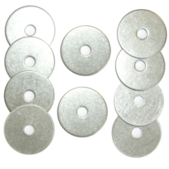 Stainless Steel Washers, 1 in., pack of 10