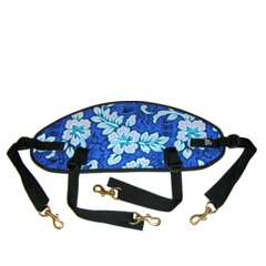Performance Back Band – blue Hawaiian print
