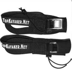 15 ft Roof Rack Tie Down Straps, one pair