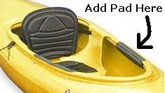 Knee Pad Kit For Rec Kayak Stick On Cnf 8023006 27